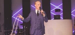 Darren Delaney performing magic live